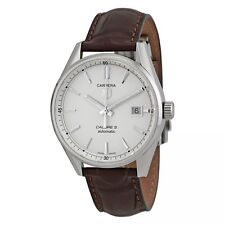 Tag Heuer Carrera Steel Automatic Brown Leather Watch WAR211B.FC6181