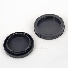 Grey Camera Body + Rear Lens Cap Cover For Sony NEX Series E-Mount Camera Lenses