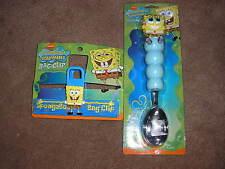 New SpongeBob SquarePants Ice Cream Scoop & Bag Clip (Chip Clip)