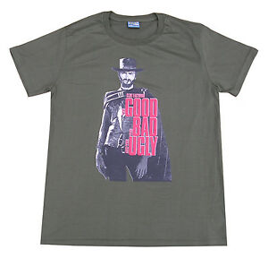 Mens Clint Eastwood Good Bad Ugly Film T-Shirt Large Green Funny Printed Cool