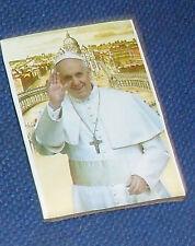 1 SANTINO magnete papa FRANCESCO  ART 4 in foto calamita SU LEGNO