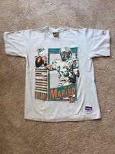 VTG Dan Marino Nutmeg Mills Double Sided T-Shirt Adult Med 1990 Miami Dolphins