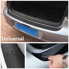 Carbon Fiber Vinyl Decal Car Sill Plate Bumper Guard Protector Cover Trunk Trim