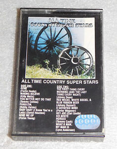 All Time Country Super Stars Audio Cassette Kitty Wells Tommy Collins Jimmy Dean