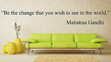 Vinyl Wall Decal Sticker Room Decor Saings Quotes Inspiring Mahatma Gandhi F1978