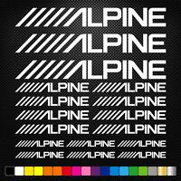 compatible ALPINE 17 Stickers Autocollants Adhésifs Auto Moto Voiture Sponsor