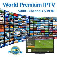 WORLD IPTV 1 DAY 5400+ Premium Ch & VOD -US, Europe, Asia- Smart TV, MAG, M3U