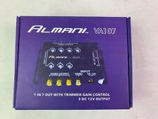 7 way video splitter with Trimmer Gain Control 3Dc 12V Output Almani Va107