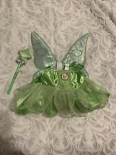 BUILD A BEAR DISNEY PRINCESS FAIRY TINKERBELL OUTFIT WINGS and WAND