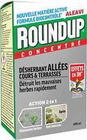 Désherbant Total Puissant Roundup Concentré Jardin 400 ML Anti-Herbes Et Mousse