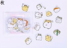 Cute kawaii kitsch podgy hamster stickers