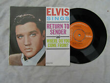 ELVIS SINGS RETURN TO SENDER orange rca 2706 Great copy........ 45rpm / rock