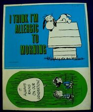 VINTAGE 1960'S PEANUTS,LUCY,LINUS & SNOOPY STICKER 2 BIG STICKERS 1 SHEET