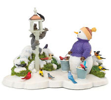 Lenox For The Birds Snowman Figurine By Lynn Bywaters New