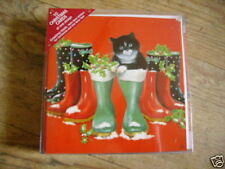 PUSS IN BOOTS CAT / KITTEN CHRISTMAS CARDS PK 10 SMALL GC 32