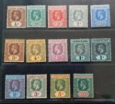 CAYMAN ISLANDS 1912 KG V 1/4d to 10s SG 40 - 52b Sc 32 - 44 wmk MCCA set 13 MLH