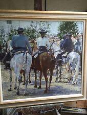 SUPERB ORIGINAL DENNIS SYRETT On Parade Seville Fair Spanish Horse OIL PAINTING