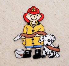 Fireman/Boy - Fire Hose/Hat - Dalmatian/Dog - Iron on Applique/Embroidered Patch