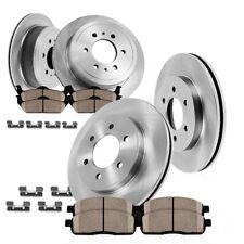 Front+Rear Rotors Ceramic Pads For Escalade Suburban Silverado Tahoe Yukon