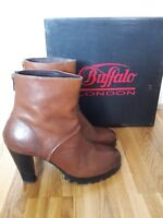 BUFFALO LONDON Stiefelette Bootie Echtleder tan Gr.38 38.5(UK5) NEU&OVP NP150,00