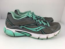 SAUCONY Ignition 4 Women US 6.5 Gray + Turquoise Athletic Running Shoes  J32