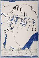 Horst Janssen - Ausstellungsplakat, Künstlerhaus Galerie - Offsetdruck - 1968