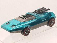 1970 Hot Wheels Peeping Bomb Redline USA Spectraflame Aqua st# hw1110