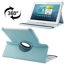 Samsung Galaxy Tab 2 10.1 Luxus Kunst-Leder Tasche Hülle Case Türkis P5100 P5110
