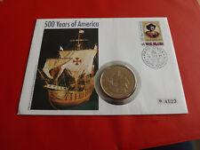 *Cook Islands Numisbrief 1991*500. Years of Amerika *mit 1 Dollar 1992(2) (ALB12