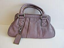 Simply Vera - VERA WANG Lavender Pebbled Embossed Faux Leather Satchel Handbag