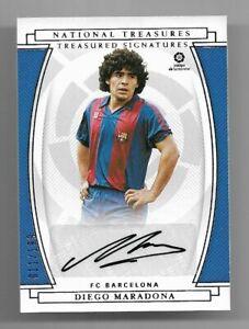 2020-21 Panini Chronicles National Treasures Auto Card :Diego Maradona #011/199