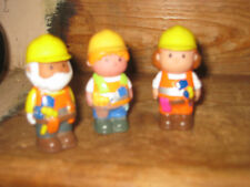 EARLY LEARNING CENTRE ELC  HAPPYLAND STAND X3 WORKMEN PLAYFIGURES LADY OLD MAN