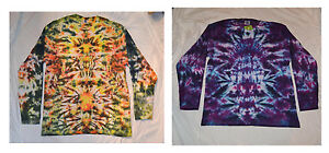 Tie Dye Long Sleeve handmade T shirt Totem Scrunch UNISEX ALL SIZES S-3XL