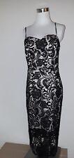 Decode Women's Sleeveless Lace Overlay Slip Dress Black 8
