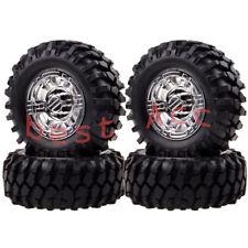 4P 1.9 Beadlock Wheels & 96MM 7006 Tire Silver Gmade D90 SCX10 1:10 Rock Crawler