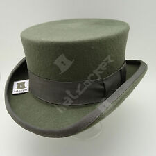 CLASSIC Wool Felt Tuxedo Topper Top Hat Men Women Short Victorian | 59cm | Grey