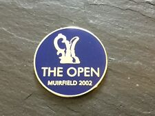 2002 British Open Muirfield Logo Golf Ball Marker plat Coin Ernie Els