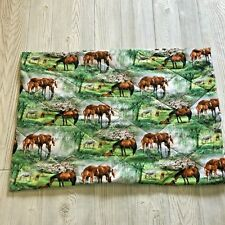 Handmade Quilted Horse Themed Twin Pillow Sham Cover