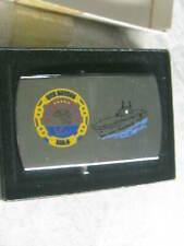 ZIPPO Solid Brass ( Chrome Color ) Belt Buckle USS NASSAU LHA 4