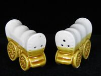 Vintage Figural Covered Wagon Souvenir Salt & Pepper Shakers Japan
