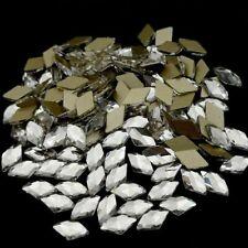 Rhombus Flatback Crystals Rhinestones 50pcs For Nail Art Decoration Accessories