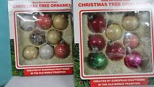 Christmas glass ornaments IOB from Romania  1987  vintage