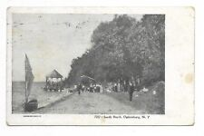 OGDENSBURG NY Sandy Beach - Circa 1906 - Publisher Souvenir Post Card Company
