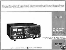 Realistic DX302  DX-302  owners manual