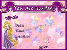 Tangled Party Invitations with matching envelopes, birthday, princess, 12pack
