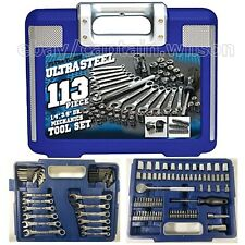 Mechanics Tool Set 113-pcs Box Wrenches Sockets Ratchet Handle Metric Kit