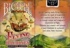 Bicycle Rare Red Pink Orange Flying Machines Playing Cards Deck