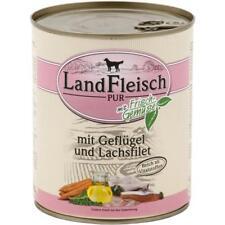 Landfleisch Geflügel & Lachsfilet | 6x 800g Hundefutter + Biogemüse