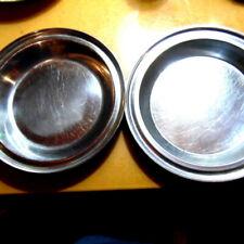 """2 Restaurant QUALITY Heavy Stainless Steel~10"""" Pie Pans Kitchen Bakeware"""
