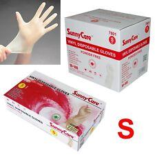 SunnyCare #7801 Powder Free Vinyl Gloves Food Service (Latex Nitrile Free)🔥🔥 S